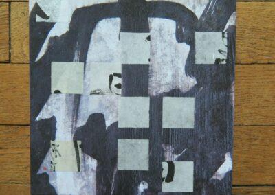 4/7 - Collages - 19,5 x 19,5 cm - montés sur chassis - Rennes 2020