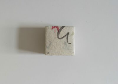 Strates calligraphiques - 6x6 x 2,8cm
