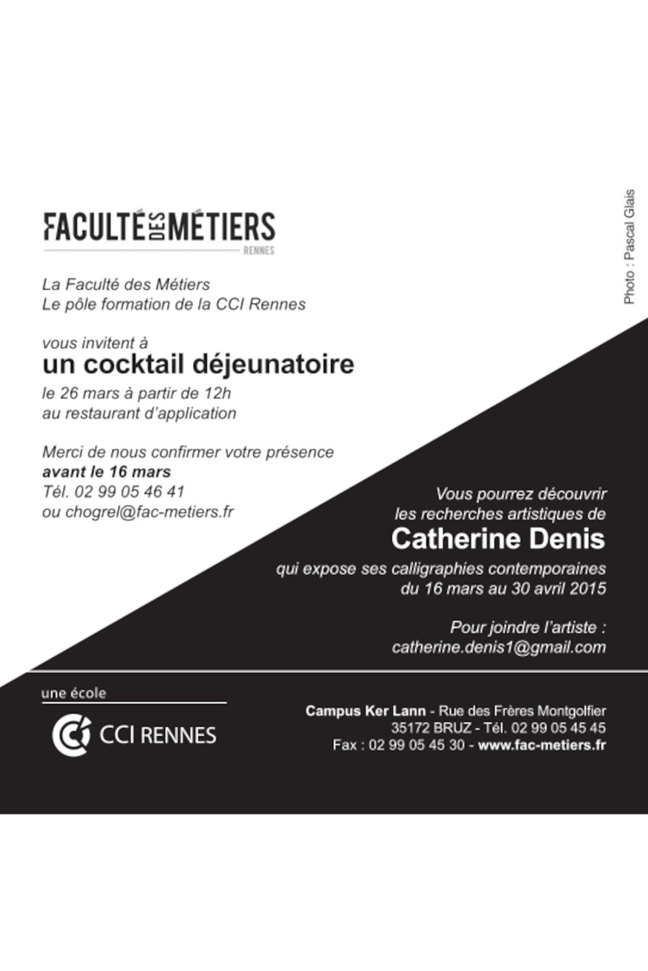 2015 - Université Kerlann, Rennes (35)